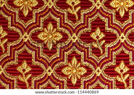 Red Gold Vintage Style Upholstery Fabric Stock Photo Edit Now