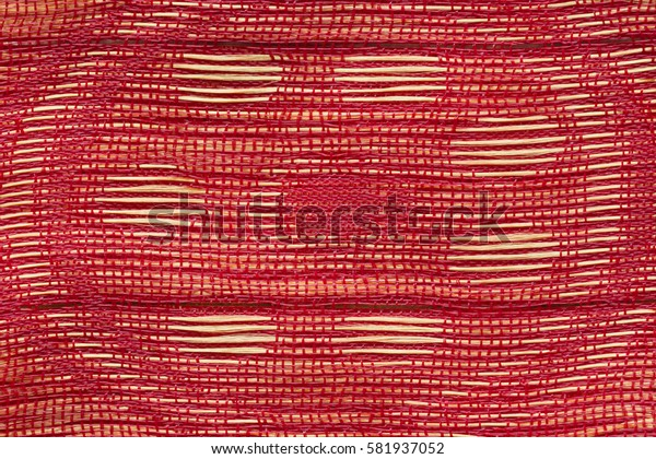 Red and gold woven fabric texture