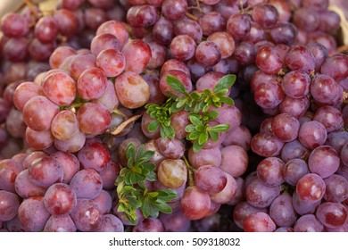 red grape decorated put on sell in fresh market, Dalat,Vietnam