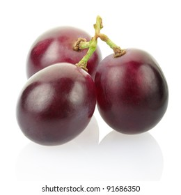 Red grape isolated on white, clipping path included