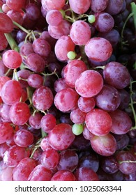 red grapes in market