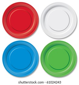 Red green blue and white disposable plates on white  sc 1 st  Shutterstock & Blue Plastic Plate Images Stock Photos u0026 Vectors | Shutterstock