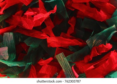 Red and green christmas paper background