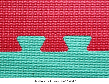 Red green contrast puzzle, abstract texture