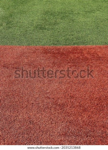 red and green fake grass artificial astroturf sports field ground