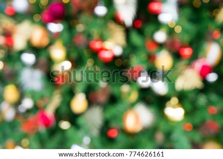 Red Green Gold Bokeh Christmas Tree Stock Photo Edit Now 774626161