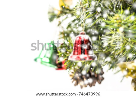 Red Green Gold Christmas Bell Decoration Stock Photo Edit Now