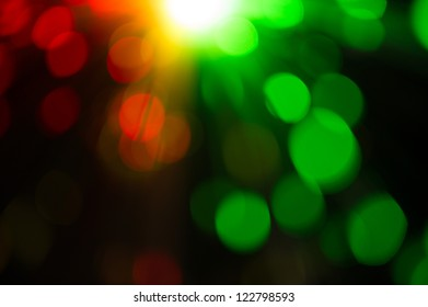 Red and green holiday bokeh