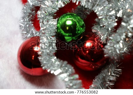 Red Green Silver White Christmas Decorations Stock Photo Edit Now