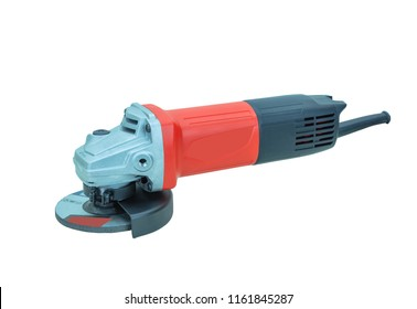 Red grinder isolated on white background