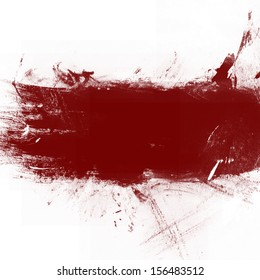 Red grunge banner with copy space