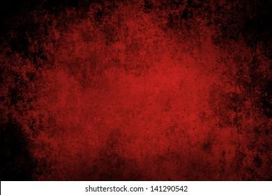 Red grunge textured wall closeup