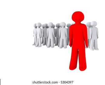 red guy stands out
