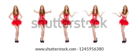 Red hair girl in