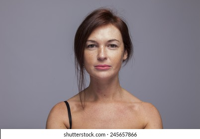 red hair girl pure portrait no makeup