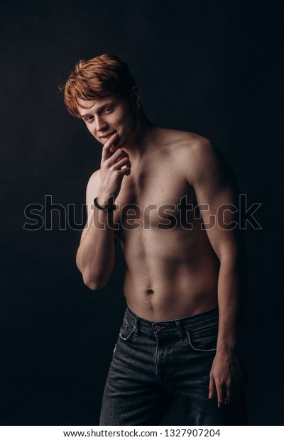 Young Guy Long Hair Naked Wet Stock Photo (Edit Now) 97728566