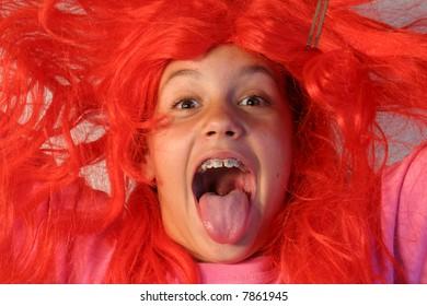 Red hair scream
