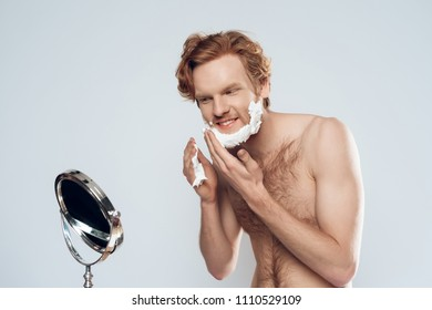 Massage hairy redhead