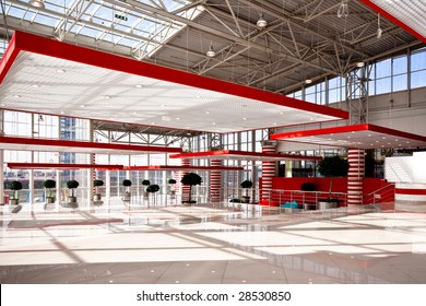 Red hall in trade center