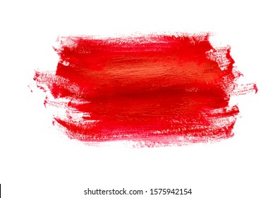 Red hand painted gouache background