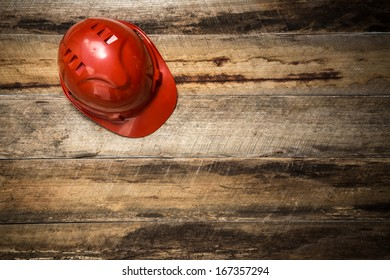 Red Hard Hat with copy space