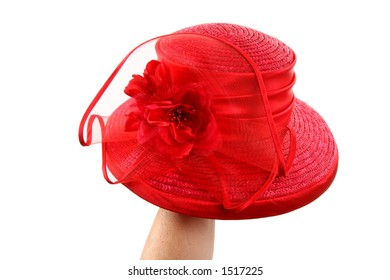 red hat on hand