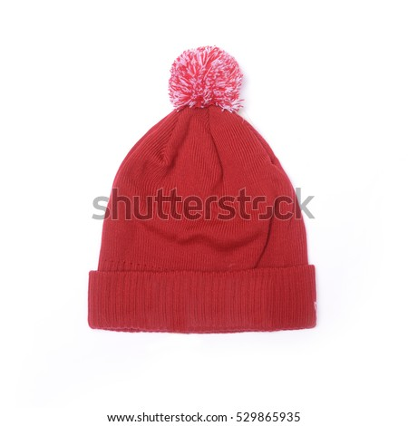 3d287081813 Red Hat Pompom Isolated On White Stock Photo (Edit Now) 529865935 ...