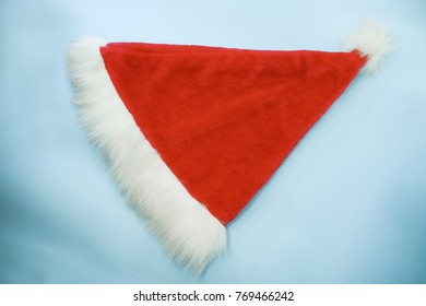 Red hat.Santa Claus's hat for backdrop design artwork. background for add text message. creative wallpaper or design art work. Merry Christmas And Happy New Year. Xmas holiday background.