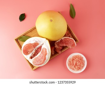 Red heart honey pomelo pulp