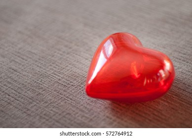 red heart for love or health