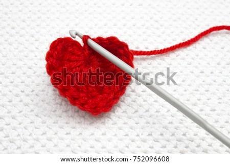 Red Heart Made Wool Yarn Crochet Stock Photo Edit Now 752096608