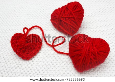 Red Heart Made Wool Yarn Crochet Stock Photo Edit Now 752356693