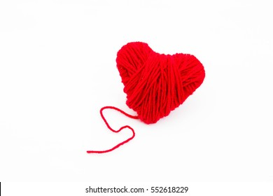 Red heart on white background,Love concept