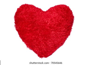 Red heart on white for Valentine