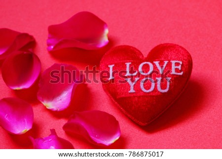 red heart shaped l love you stock photo edit now 786875017