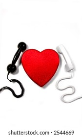 Red Heart and Two Phones, Love