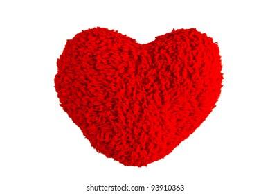 Red heart  valentine symbol isolation on white