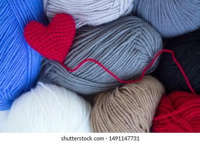 Heart Yarn Images, Stock Photos & Vectors   Shutterstock