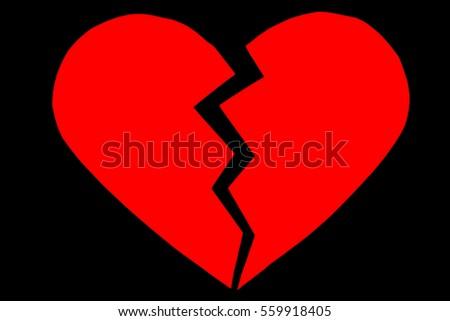 Red Heartbreak Broken Heart Close Paper Stock Photo Edit Now