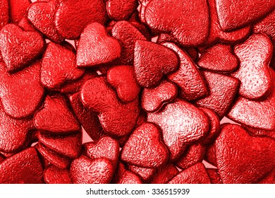 red hearts texture as nice valentine background