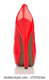 red high heels, symbol photo for fashion, elegance and eroticism