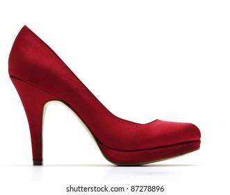 Red high-heeled shoes