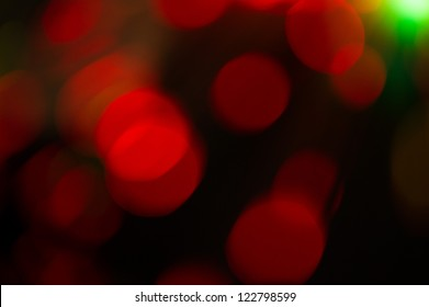 Red  holiday bokeh