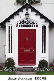 Red home door (Ireland).
