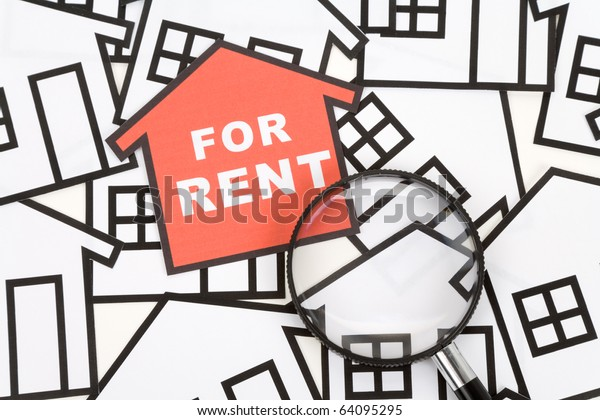 a red home sign,  Real Estate Concept