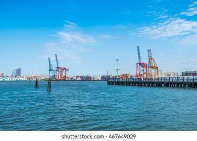 Red Hook Container Terminal, New York - view from the ferry to Governors Island