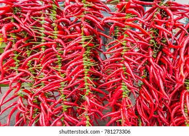 Red hot Chili at a market stall