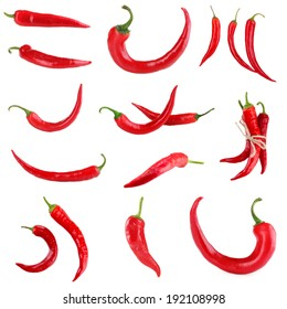 Red hot chili pepper collage