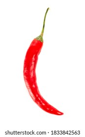 Red hot chilipepper isolated on white background.