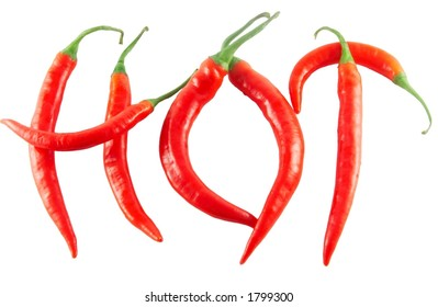 """Red hot chilli peppers spelling the word """"hot"""""""